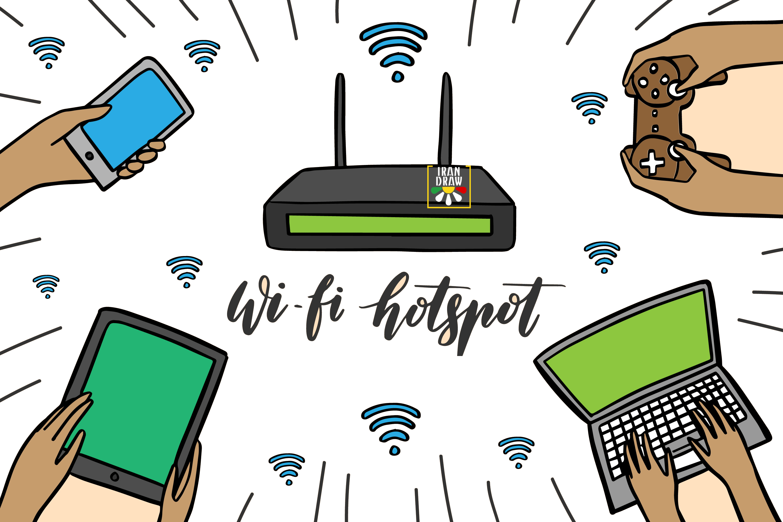 Hotspot first irandraw - هات اسپات - شبکه اینترنت بی سیم (Hotspot)