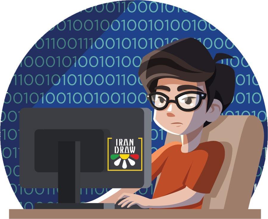 Programmers concept with flat design - طراحی سایت خود را توسعه دهید