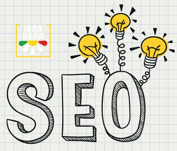 SEO Idea vector - بهینه سازی سایت در سال 2018